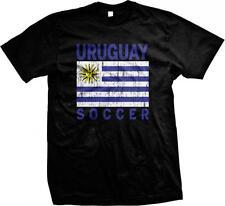 Uruguay Flag Soccer Futbol Uruguayan Pride Orgullo Bandera Uruguaya Mens T-shirt