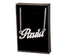 Name Necklace Paula – 18K Gold Plated | Personalised Wedding Bridesmaid Pendant