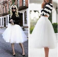 New Womens Ladies TUTU Dance Petticoat 6 layers Tulle Dress BOHO Skirt Dancewear