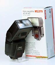 Metz MECABLITZ 40af-4c Flash per Canon EOS Telecamere analogico 9604