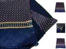 Sciarpa lana seta uomo blu doppiata wool silk scarf m italy