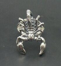 ARGENT STERLING Bague Solide 925 Scorpion réglable taille