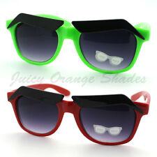 New Eyebrow Sunglasses Cartoon Funny Novelty Gag Gift (4 Colors)