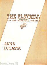 "Georgia Burke ""ANNA LUCASTA"" Rosetta Le Noire / Duke Williams 1946 Playbill"
