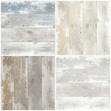Shabby Chic Design Studio - Driftwood Wood Wallpaper - Nautical Scrapwood Look