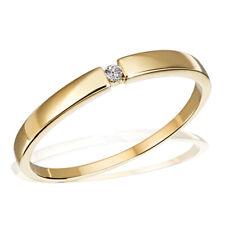 Goldmaid Ring Goldring Solitär 333er Gelbgold 1 Brillant 0,03 Karat Echtschmuck