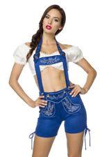 Femme bavarois orange bleu shorts broderie dirndl uy 70026