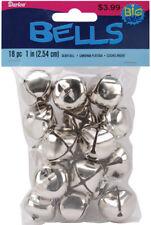 """Jingle Bells 1"""" 18/Pkg-Silver, 109925"""