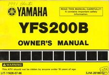 1991 YAMAHA ATV 4 WHEELER YFS200B OWNERS MANUAL