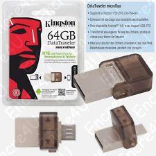 Clé USB 64 Go OTG Datatraveler MicroDuo Kingston dispo aussi en 8 16 32 Gb Giga