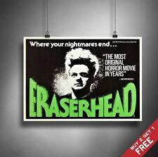 A3 or A4 Size * ERASERHEAD 1977 Movie Poster * David Lynch Vintage Art Print