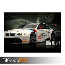 BMW M3 GT2 SPORT (0801) auto POSTER-Foto Poster Arte Stampa A0 A1 A2 A3 A4