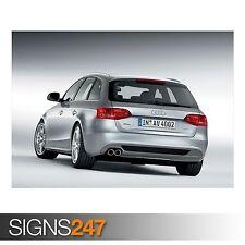 AUDI A4 1.8 TFSI S LINE AVANT (AC607) CAR POSTER - Poster Print Art A0 A1 A2 A3