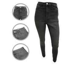 Womens H&M High Waist Jeggings Super Skinny Jeans Ash Black Size 10 12 14 16 18