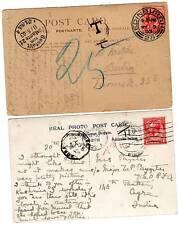 1903/22 Edimburgo a ultramar mal pagados ppcs Taxe Marcas