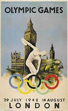 187 vintage TRAVEL poster Londra olimpiadi 1948