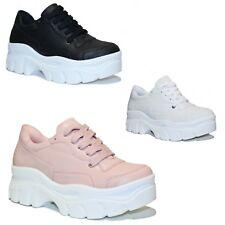 Scarpe donna Sneakers Ginnastica Passeggio Fitness Zeppa Sport Casual C40