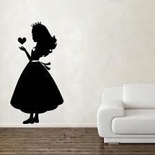 Princesa de corazones Pared Adhesivo Decoración Habitación Niños Niñas Niños Arte GR136