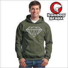 DIAMANTE FELPA - DIAMOND - OLD SCHOOL - VINTAGE - TATTOO - FELPA VERDE CAPPUCCIO