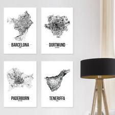"""JUNIWORDS Poster """"Stadt nach Wahl"""" City Städte Skyline 60 x 90 cm Weiß Design B"""