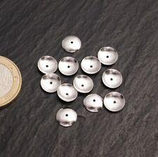 Zwischenteile Halblinsen Schalen für Kugeln an Ketten Silber 925 Steinschatz
