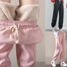 Womens Sweatpants Fleece Jogger Pants Casual Warm Lined Harem Trouser Drawstring