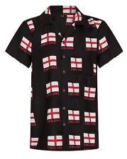 England Shirt Mens Hawaiian Shirt Football Euro Stag Loud Party Cup Britain UK!