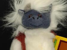NEW LIFELIKE COTTON TOP BROWN WHITE TAMARIN PLUSH HUG MONKEY TOY STUFFED ANIMAL