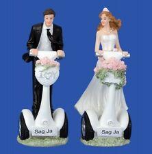 """Braut und Bräutigam Skulptur mit Spruch """"Sag ja"""" Figuren Hochzeit Heiratsantrag"""