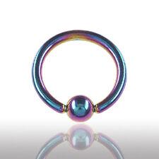 2,5mm Regenbogen Piercing Klemmkugel Ring Brust Ohr Septum Intim Piercing