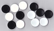 Gabriel Othello 4 Black/White Disks Pieces Parts Game Replacement Plastic Pieces