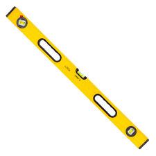 Aluminium Wasserwaage 40 bis 200cm 3 Libellen Präzisionswasserwaage Winkel gelb