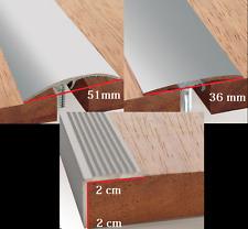 Dural Multifloor Door Bar Threshold  Strip Cover  Aluminum L 93 cm- (W 36-51 mm)