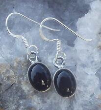 Boucles d'oreille argent 925 ,Onyx