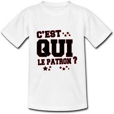 T-shirt Adulte C'est qui le Patron - S au 2XL