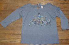 Lauren Conrad LC Disney Collection Snow White Graphic Lace Hem Shirt Size Small