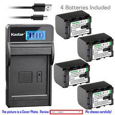 Kastar Battery LCD Charger for BN-VG107U BN-VG108U BN-VG114U BN-VG121U BN-VG138U