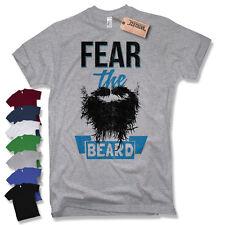 FEAR THE BEARD T-Shirt - Barber Shop Moustache Bart Oldschool Fun S M L XL XXL