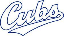 CUBS Chicago World Series MLB High Quality Vinyl Decal Sticker Baseball Art Team