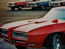 1968 PONTIAC GTO PRINT AD/poster/picture/Lemans/Tempest/hood tach/1966-1967-1969