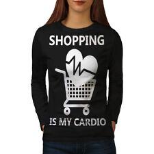 Shopping Sport Gym Funny Women Long Sleeve T-shirt NEW | Wellcoda