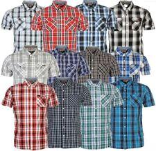 LEE COOPER Herren Hemd kurzarm Shirt kariert Short Shirt Kragen Sommer NEU a6f4f84a2e