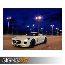 MERCEDES BENZ SLS AMG ROADSTER (AB613) CAR POSTER - Poster Print Art A0 A1 A2 A3
