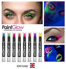 100% Genuine Paint Glow UV Reactive Glow Neon Fluorescent Rave Eye PAINT LINER