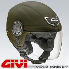 CASCO JET GIVI - MODELLO SOLID 10.4 VERDE OPACO - TAGLIE XS - S - M - L - XL