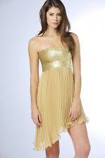 Embellished Sequinned Sleeveless Dress 12  Black Gold