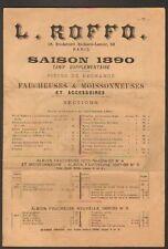 """PIECES DETACHEES pour MACHINES AGRICOLES """"L. ROFFO 1890"""