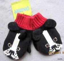 Gymboree Firehouse Hound Black Dog Mittens 12-18-24 NWT
