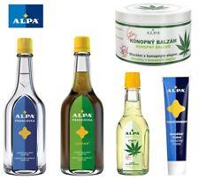 ALPA Francovka Lesana Czech Herbal Massage Tincture Cream Embrocation Gel