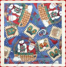 BonEful Fabric FQ Flannel Cotton Quilt Snowman Santa Country Xmas Bird Cardinal